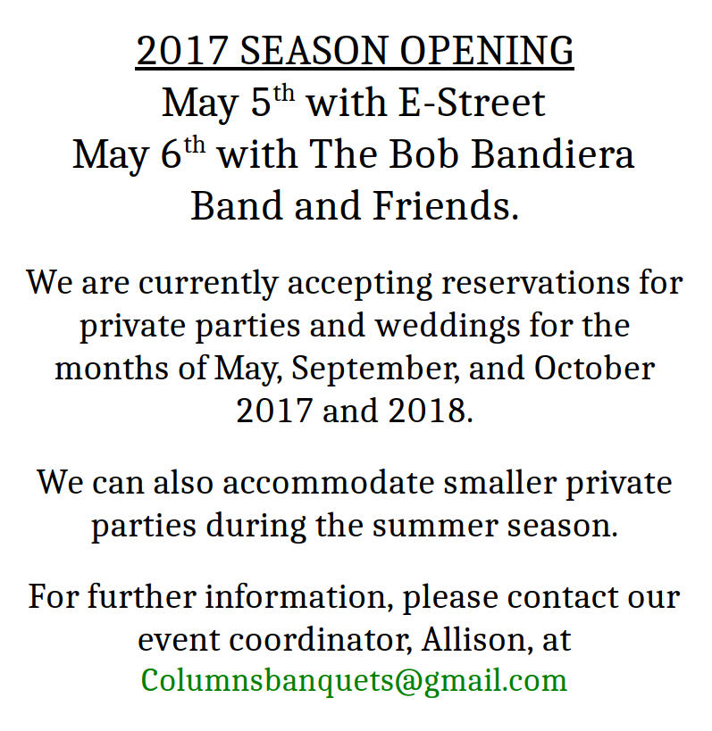 2017 Season Opening Announcement